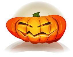 Caractère citrouille d'halloween vecteur