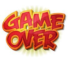 Game Over Icon pour le jeu de l'interface utilisateur vecteur