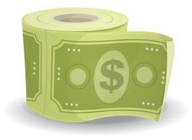 Dollars en papier singe vecteur