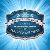 Bonne année et joyeux Noël bannière vecteur