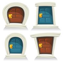 Set de portes vecteur