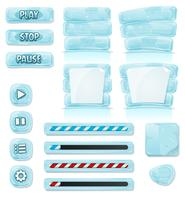 Cartoon Ice And Glass Icons Pour Le Jeu Ui