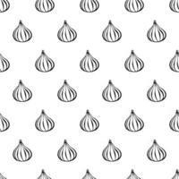 modèle sans couture avec des éléments de fruits dessinés à la main fig. fond d'écran végétarien. pour l'emballage de conception, le textile, l'arrière-plan, les cartes postales et les affiches de conception. vecteur