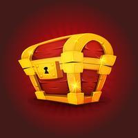 Icône de coffre au trésor pour le jeu Ui vecteur