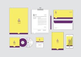 le modèle d'identité d'entreprise pour votre entreprise comprend une couverture de cd, une carte de visite, un dossier, une enveloppe et un en-tête de lettre no.15 vecteur
