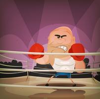 Champion Boxer Sur Le Ring vecteur