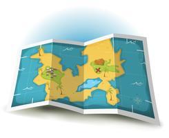 Île au trésor et carte de pirate