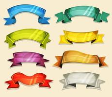 Bandes dessinées et rubans fixés pour le jeu Ui vecteur