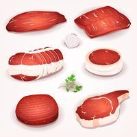 Set de viande de boeuf vecteur