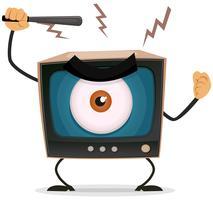 Censure, terreur et lavage de cerveau à la télévision vecteur