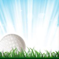 Fond de balle de golf vecteur