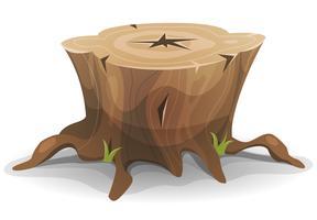 Souche d'arbre comique vecteur