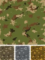Ensemble de camouflage militaire sans couture vecteur