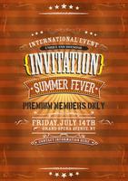 Fond d'Invitation Vintage