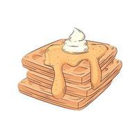 pain tranché et beurre icône isolé vecteur