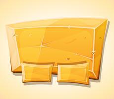 Panneau de lingot d'or de dessin animé pour le jeu de l'interface utilisateur