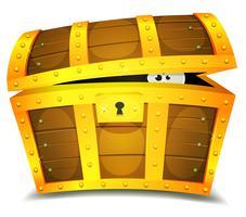 Se cacher à l'intérieur du coffre au trésor vecteur