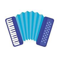 Icône isolé instrument de musique accordéon vecteur