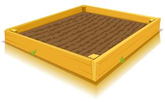 Jardinage de pieds carrés vecteur