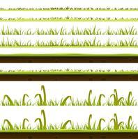 Ensemble de couches d'herbe et de pelouse vecteur