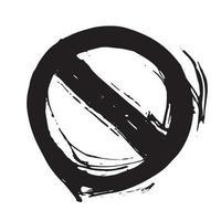 rond non autorisé signe, élément dessiné à la main texturé grunge, illustration vectorielle vecteur