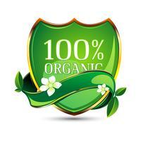 Étiquette 100% organique vecteur