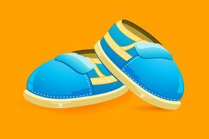 Chaussures de bébé vecteur