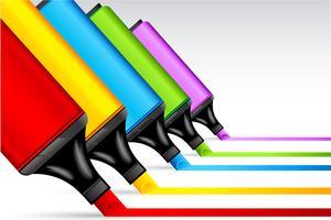Stylo surligneur coloré vecteur