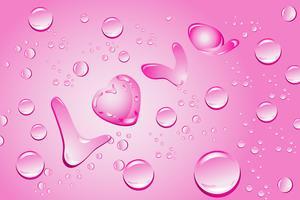 L'amour avec des gouttes d'eau