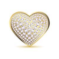 Coeur avec diamant vecteur