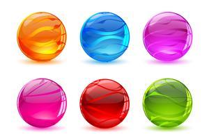 Ensemble de boule de cristal vecteur