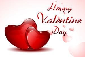 Carte de valentine vecteur