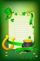 Carte Saint Patrick vecteur