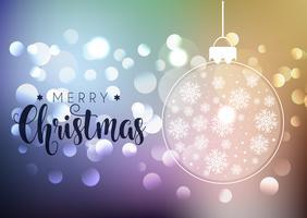 Fond de Noël avec des lumières de bokeh