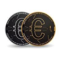 pièce numérique en euros vecteur