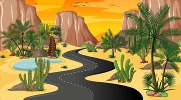 fond de route du désert vecteur
