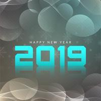 Bonne année 2019 fond moderne vecteur