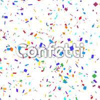 Abstrait coloré confetti vecteur