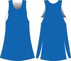 maquettes de robe de netball vecteur