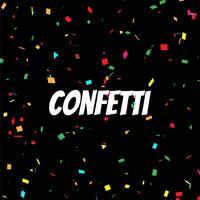 Fond décoratif abstrait confettis colorés