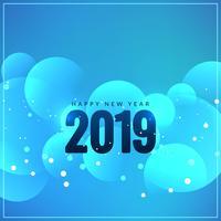 Abstrait joyeux nouvel an 2019 salutation vecteur