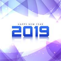 Abstrait joyeux nouvel an 2019 élégant vecteur