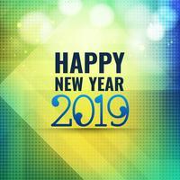 Résumé de fond de célébration du nouvel an 2019 vecteur