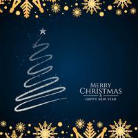 Abstrait arbre décoratif de joyeux Noël vecteur