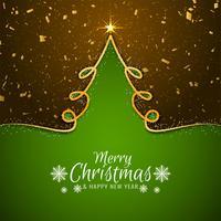 Fond de voeux joyeux Noël élégant vecteur