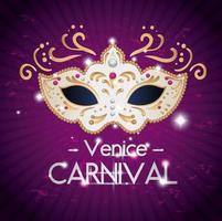 affiche du carnaval de venise avec masque vecteur