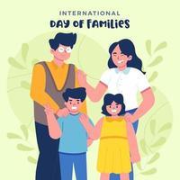 journée internationale des familles vecteur