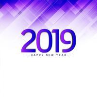 Abstrait joyeux nouvel an 2019 fond moderne vecteur