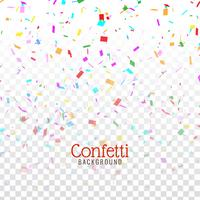 Abstrait décoratif confetti coloré vecteur