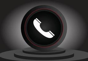 icône 3d d'appel de médias sociaux vecteur